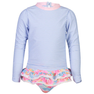Rainbow Connection LS Ruffle SurfSuit