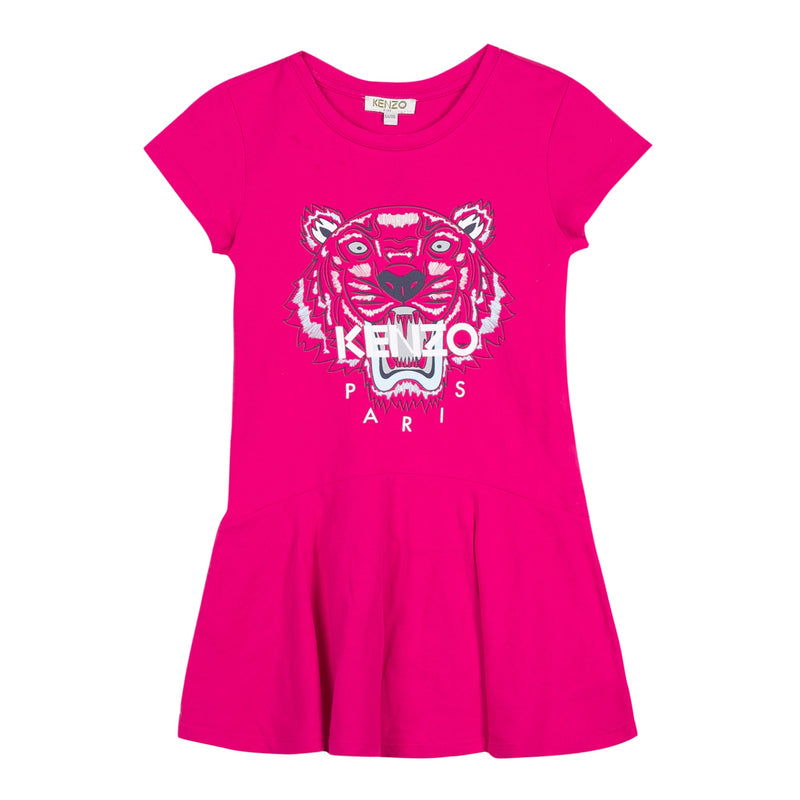 FUSCHIA PINK TIGER DRESS
