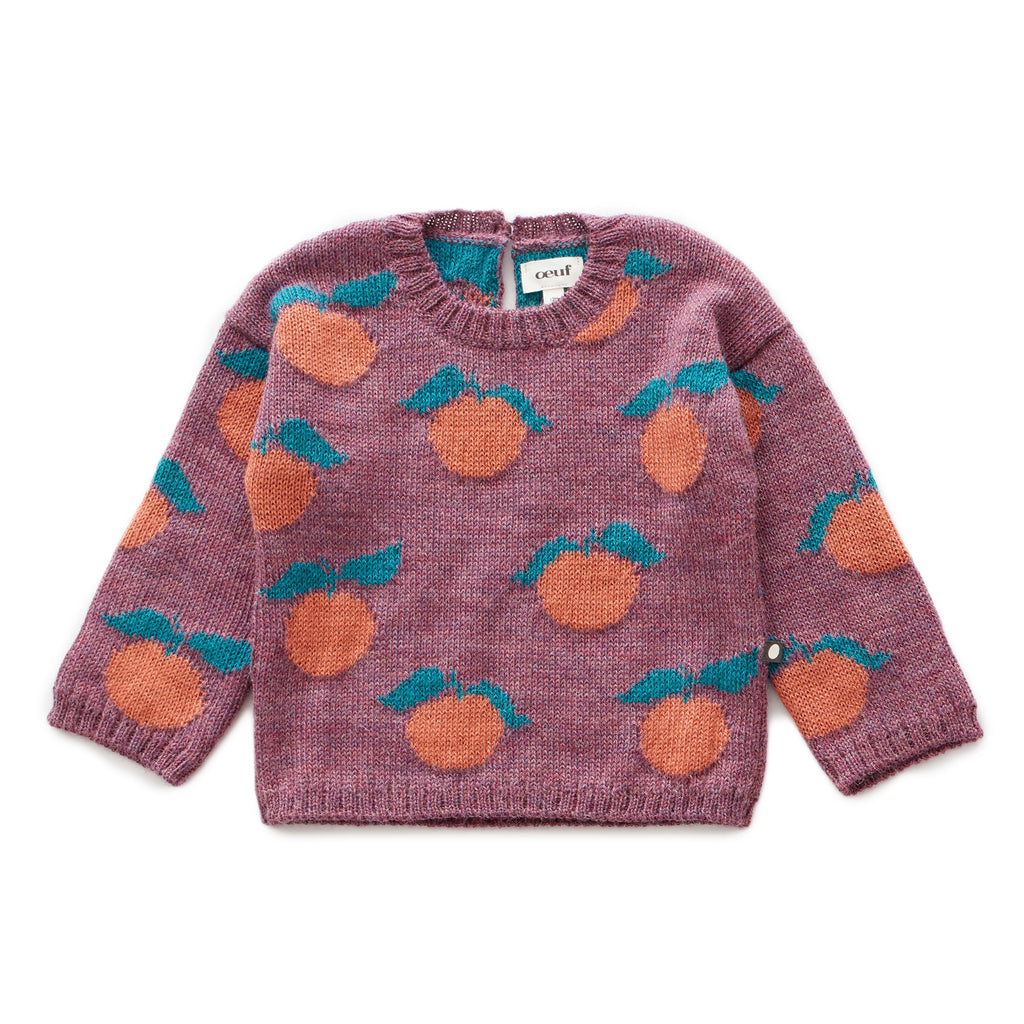 Clementine Sweater Mauve/Apricot