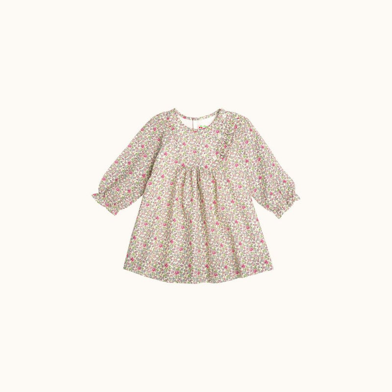 MAELIA BABIES' DRESS MILK WHITE