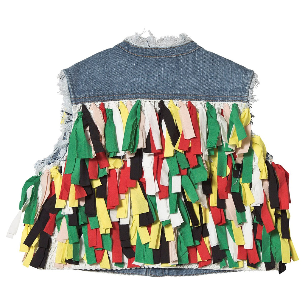 Multicolor Fringes Gilet