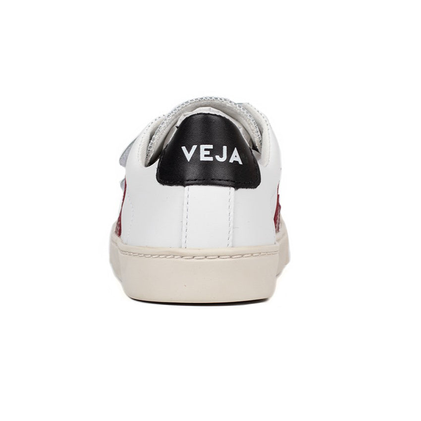 SMALL ESPLAR VELCRO LEATHER EXTRA-WHITE MARSALA TODDLER
