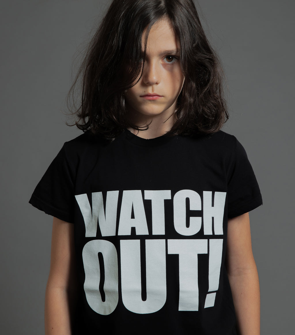 WATCH OUT T-SHIRT BLACK