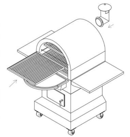 Smoke-N-Hot Outdoor Cooking Center Grill SNH-OCC Body
