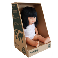 SUKI - Miniland Anatomically Correct Baby Doll Asian Girl, 38 cm