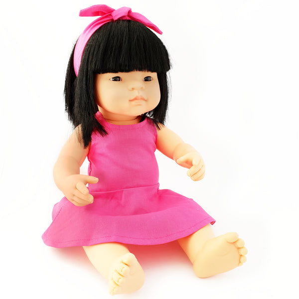 SUKI - Dressed to Impress Miniland Doll. 38cm. Asian Girl