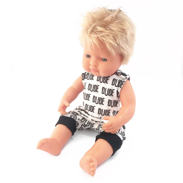BODHI - Dressed to Impress Miniland Doll. 38cm. Caucasian Boy