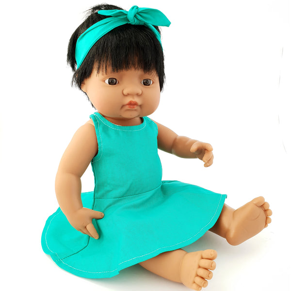 VALENTINA - Dressed to Impress Miniland Doll. 38cm. Latin Girl