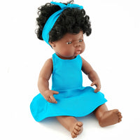 RENATA - Dressed to Impress Miniland Doll. 38cm. African Girl