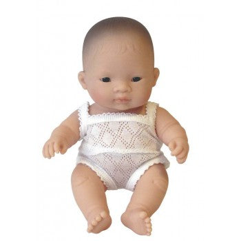 AKIO - Miniland Anatomically Correct Baby Doll Asian Boy, 21 cm