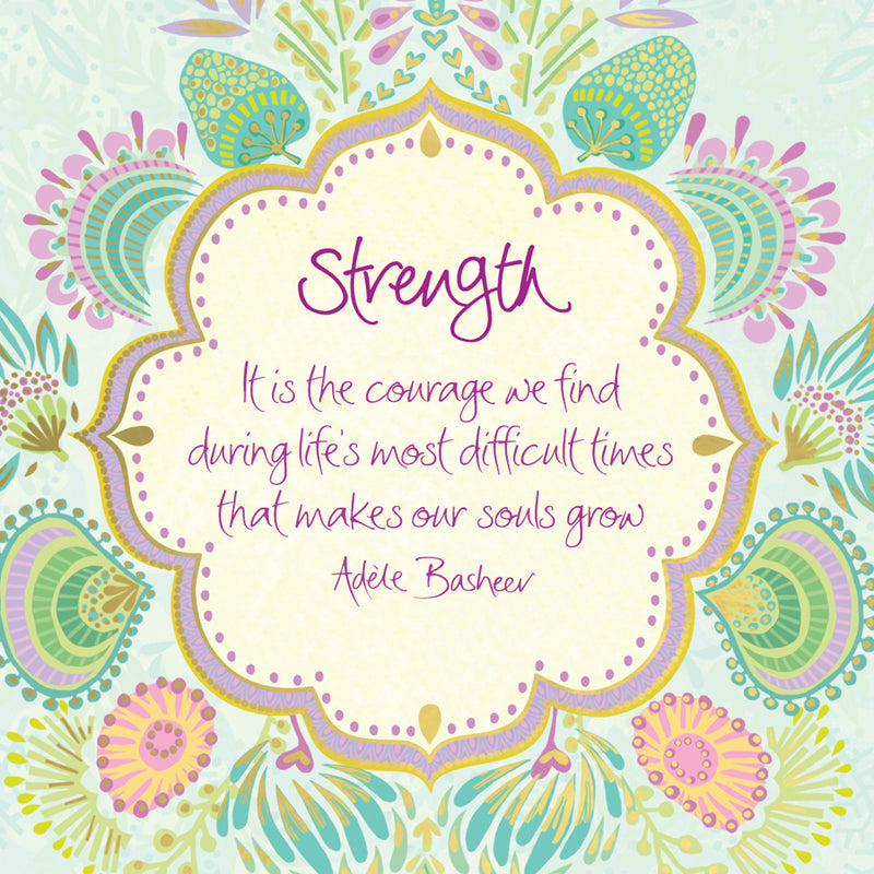 Intrinsic inspirational strength and courage quote by Adèle Basheer