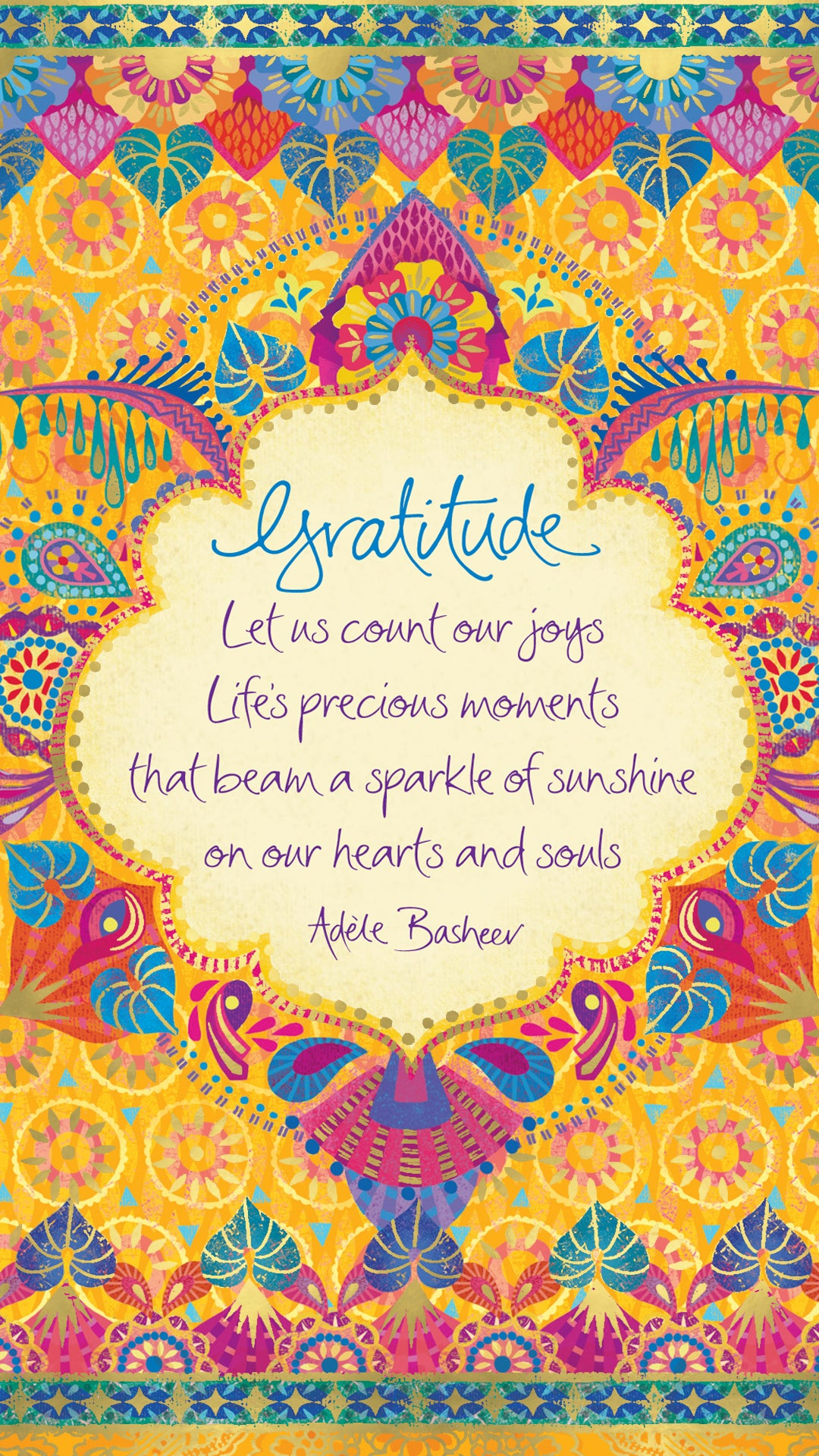Gratitude Quote By Adèle Basheer - Free digital wallpaper