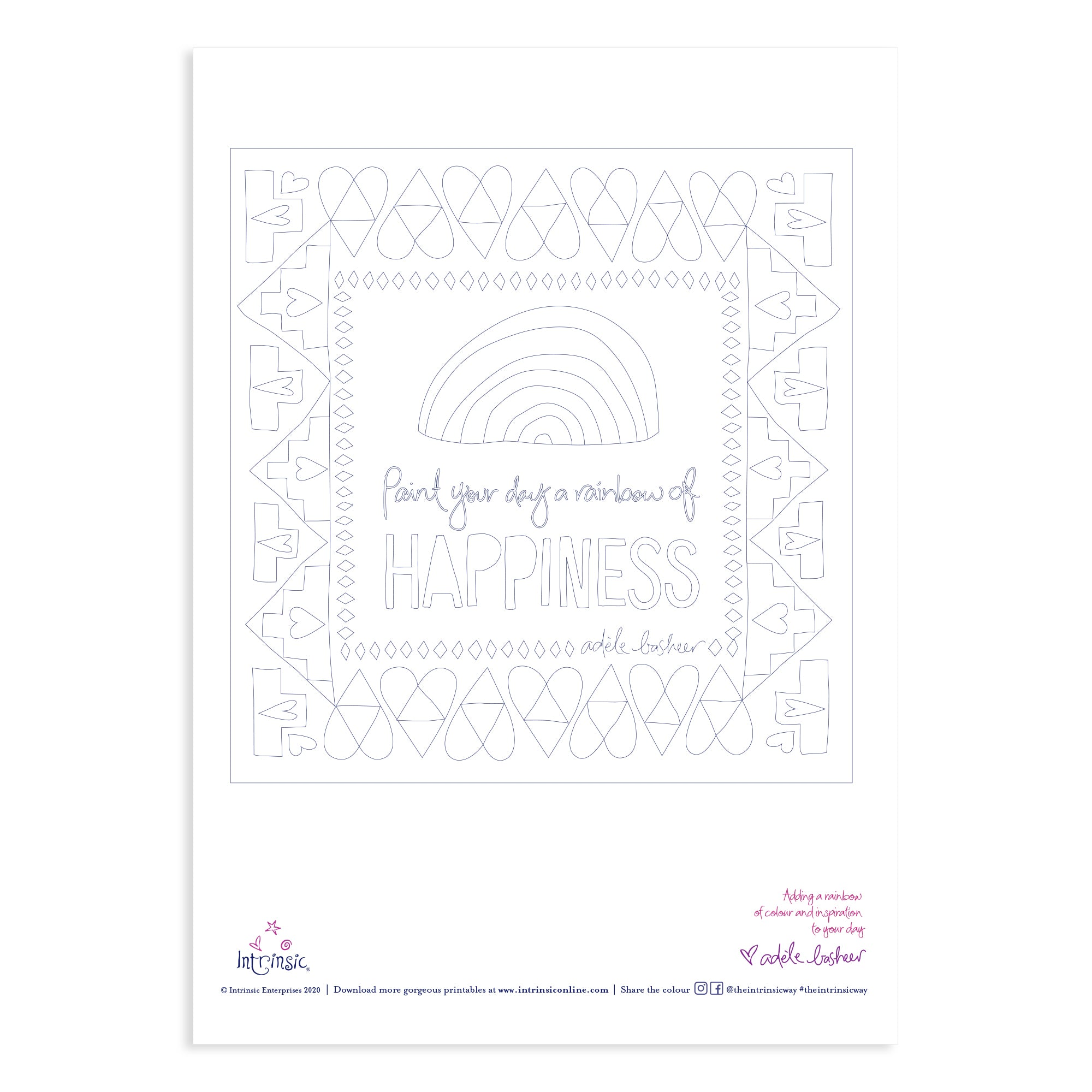 Intrinsic Colouring In Printable #1