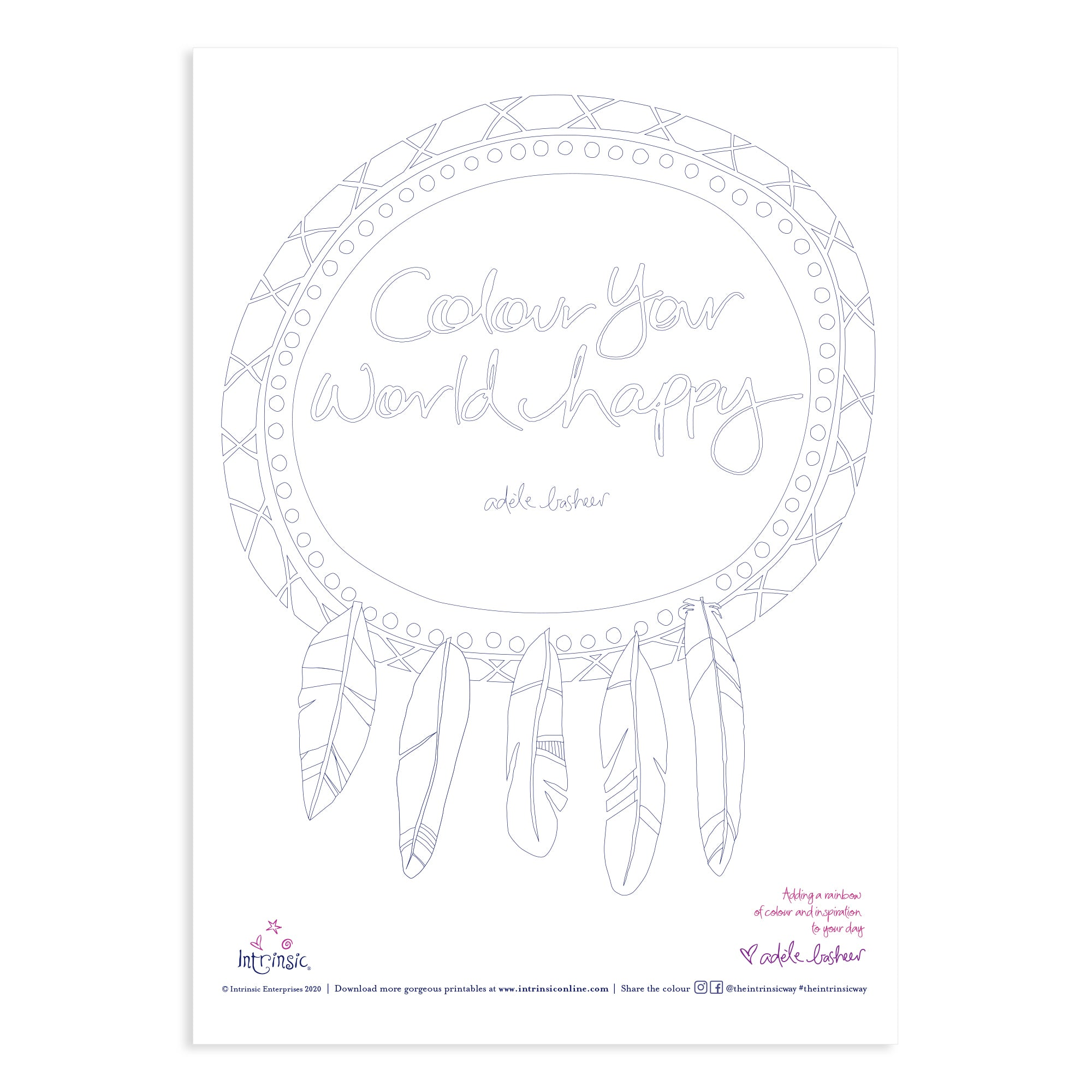 Intrinsic Colour Your World Happy Colouring In Printable
