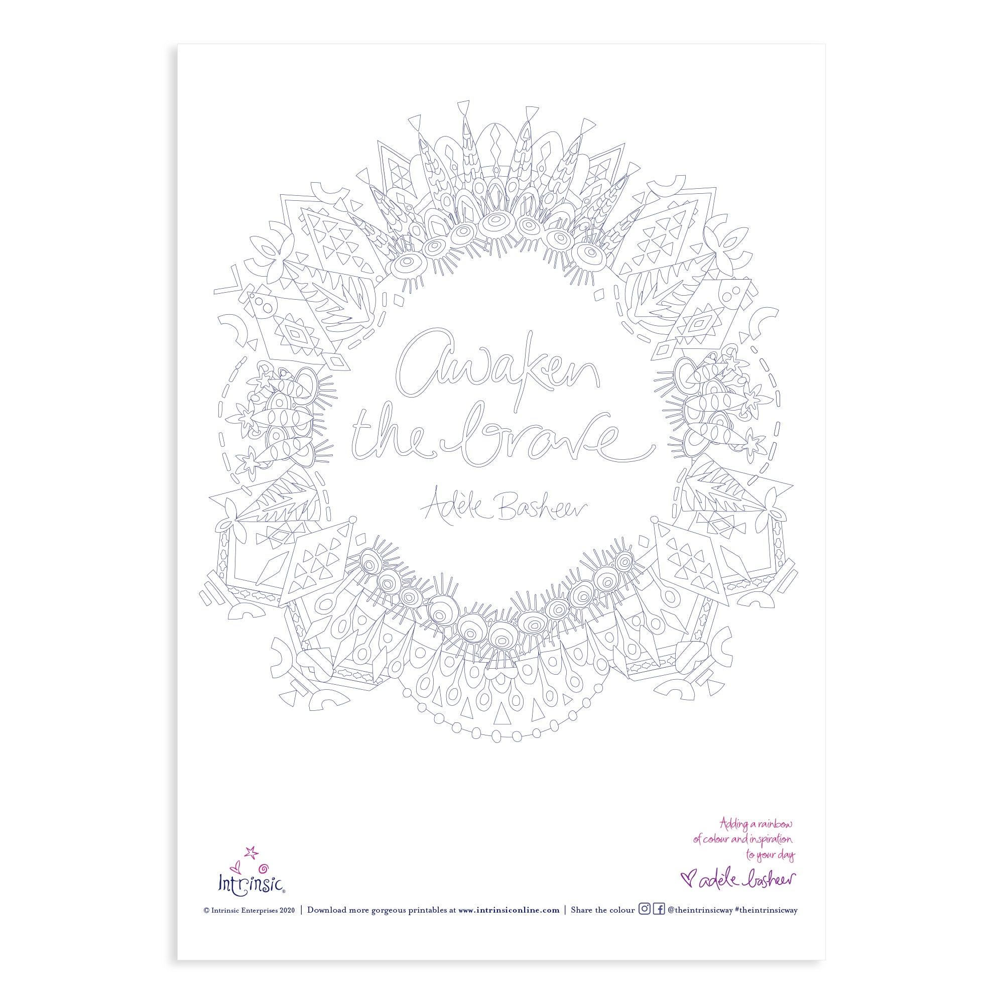 Intrinsic Awaken The Brave Colouring In Printable