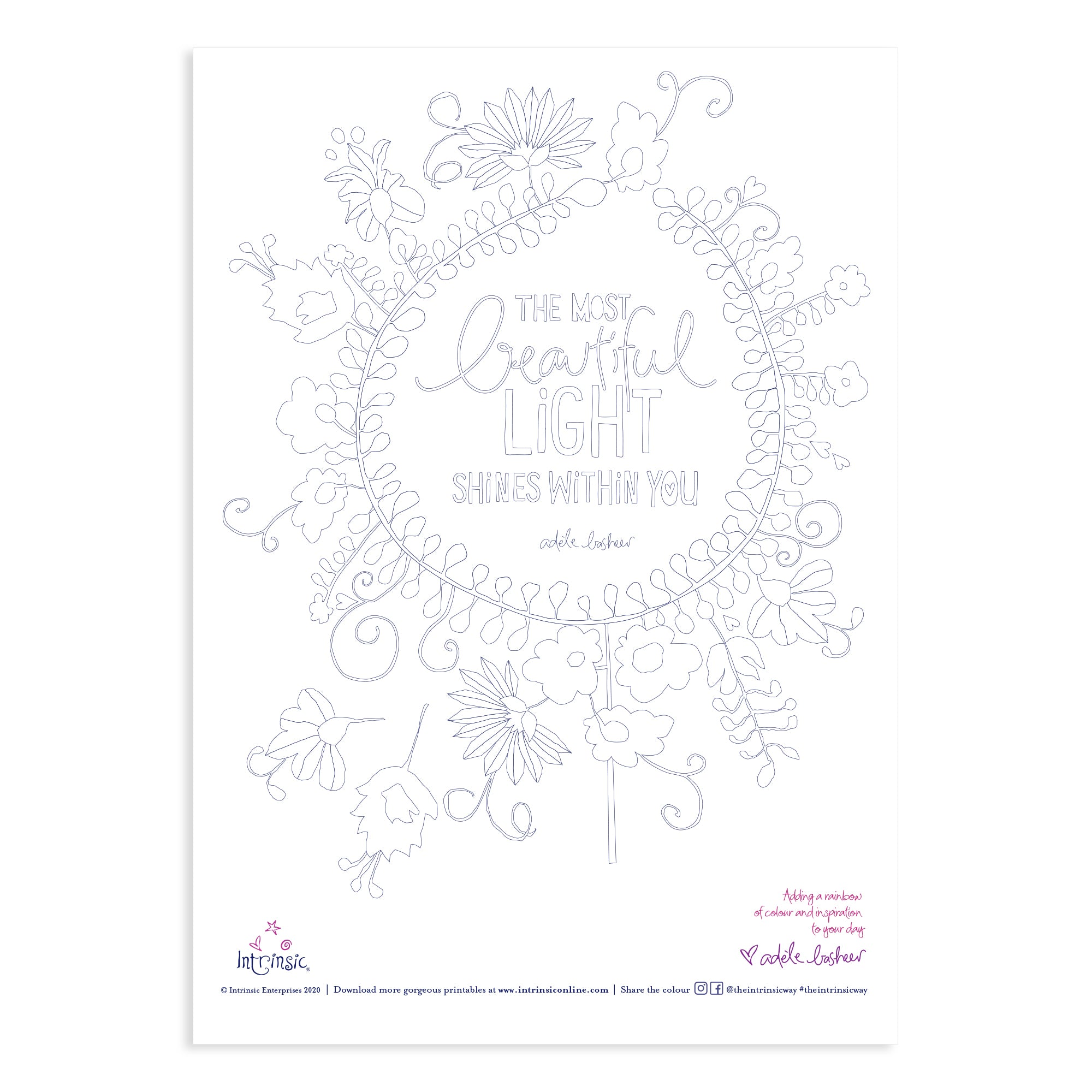 Intrinsic Colouring In Printable #2