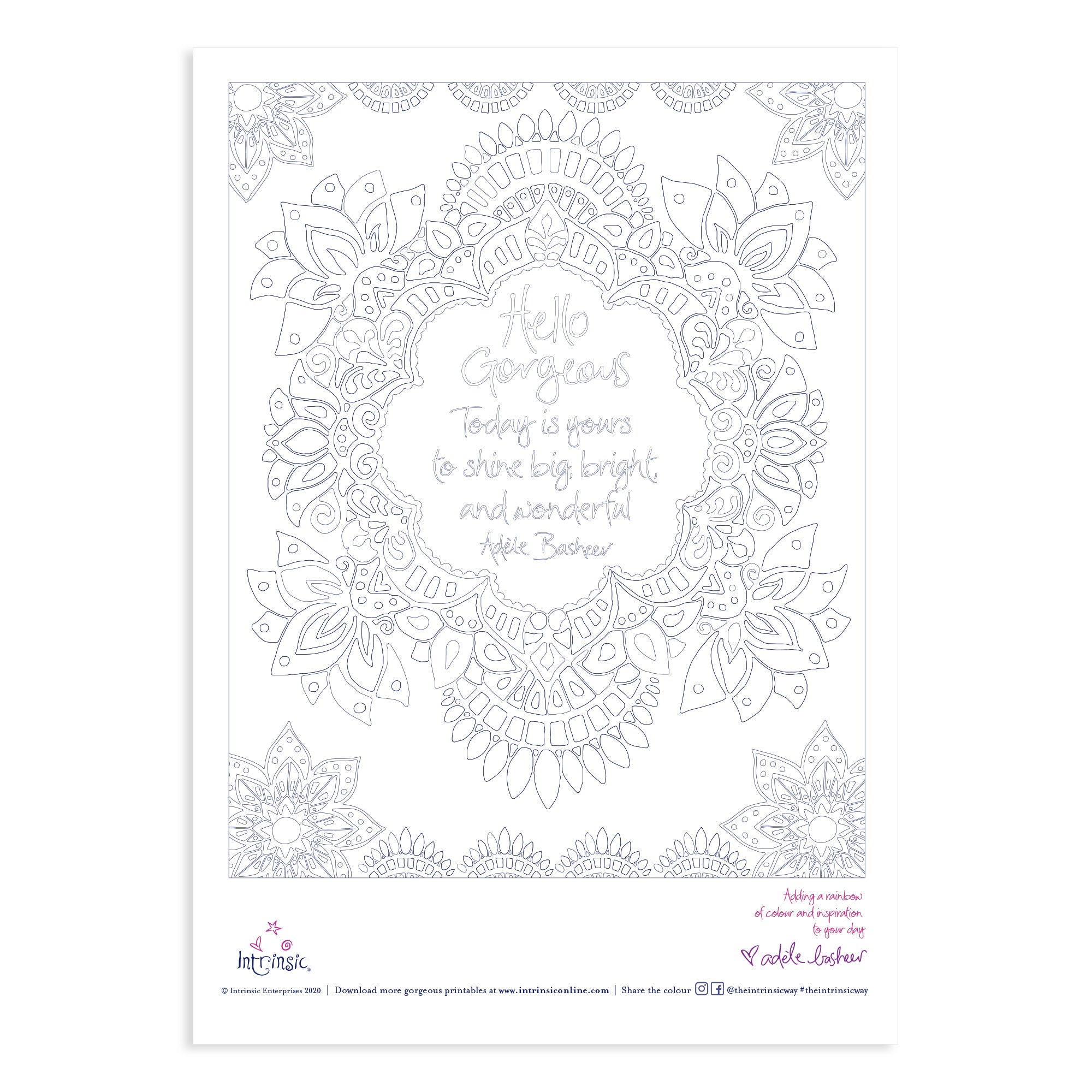 Intrinsic Hello Gorgeous Colour In Printable #21