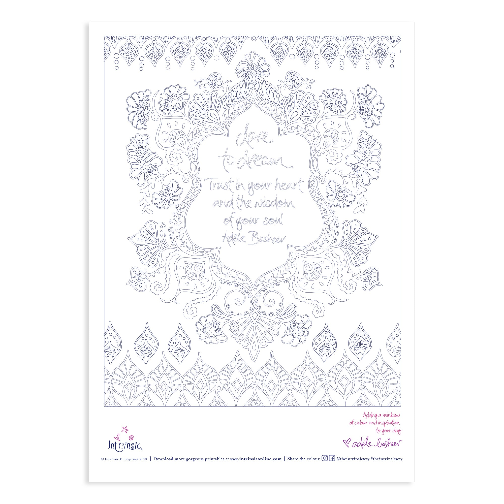 Download Intrinsic's Dare To Dream Colouring In Printable #22
