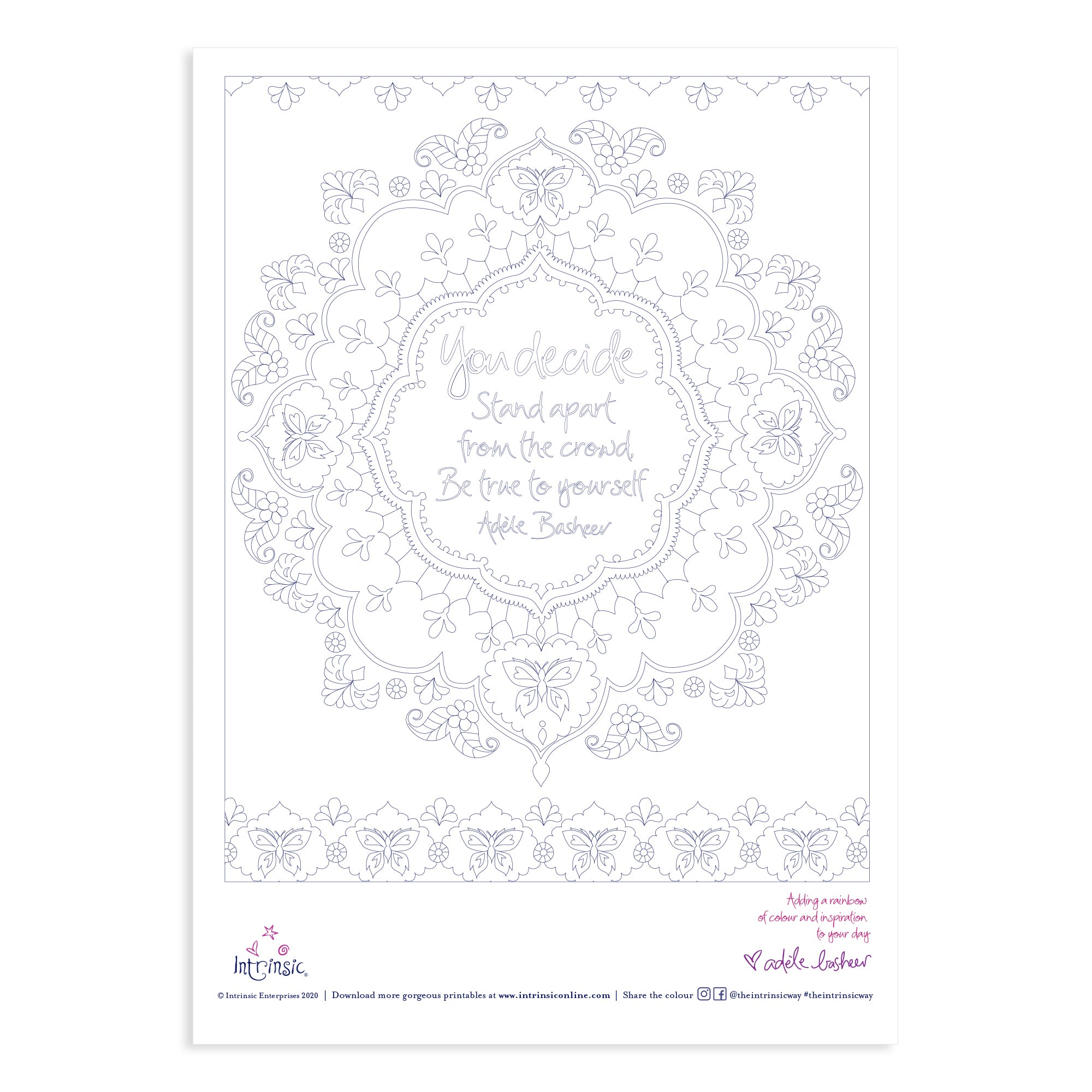 Download Intrinsic's You Decide Colouring In Printable #25
