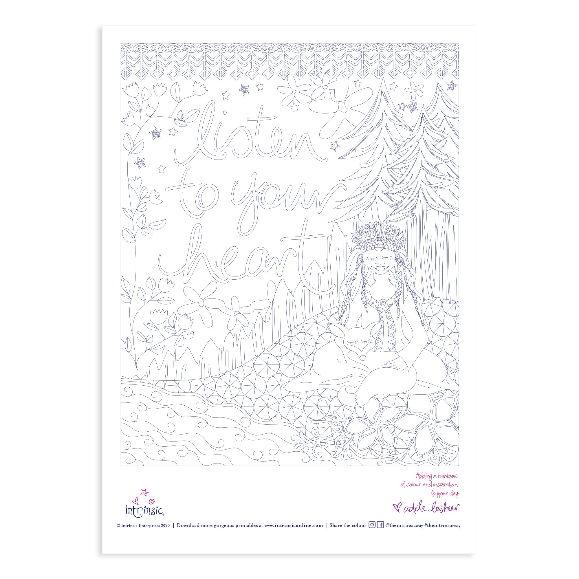 Intrinsic's Follow Your Heart Colouring in Printable #29