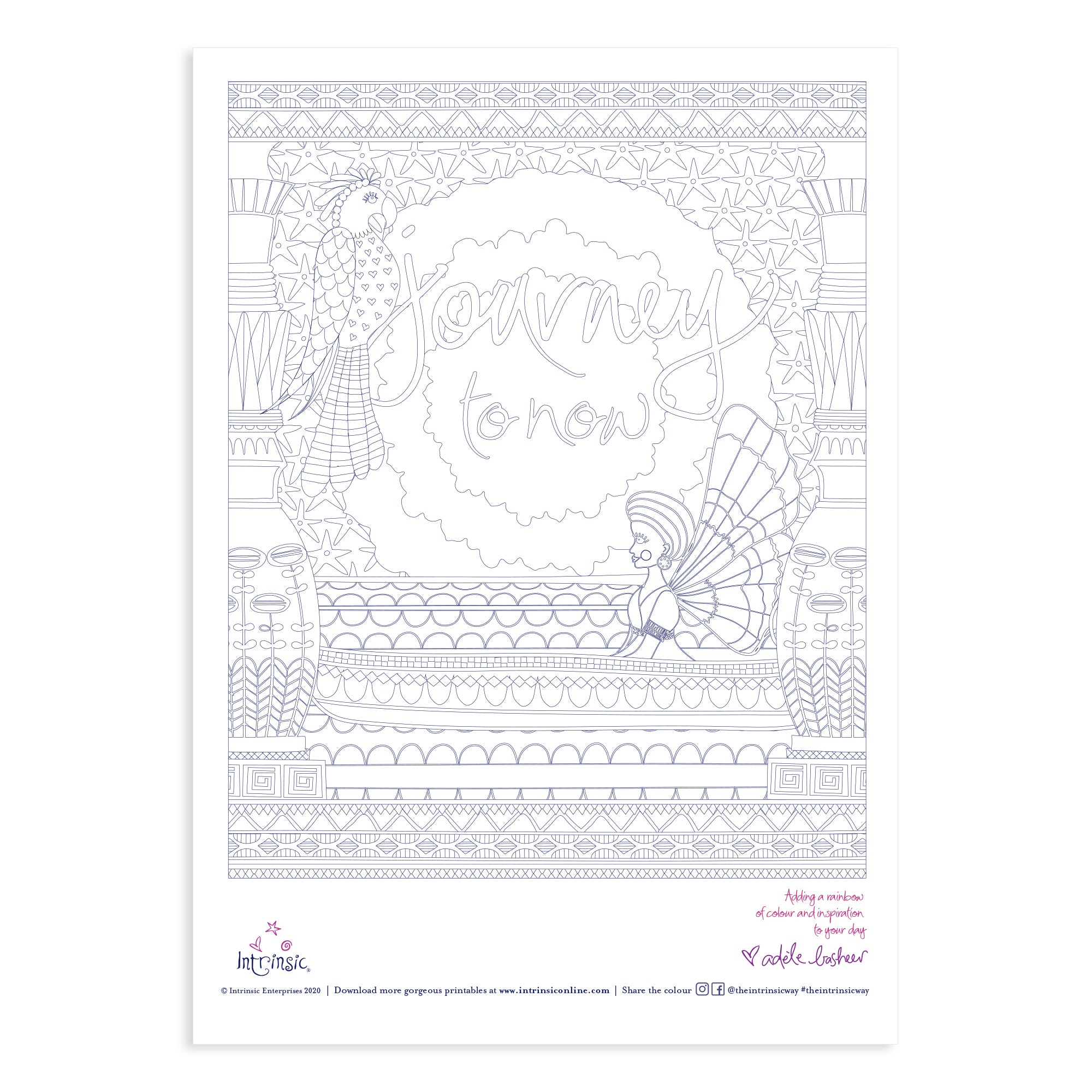 Intrinsic's Journey To Now Colouring In Printable #30