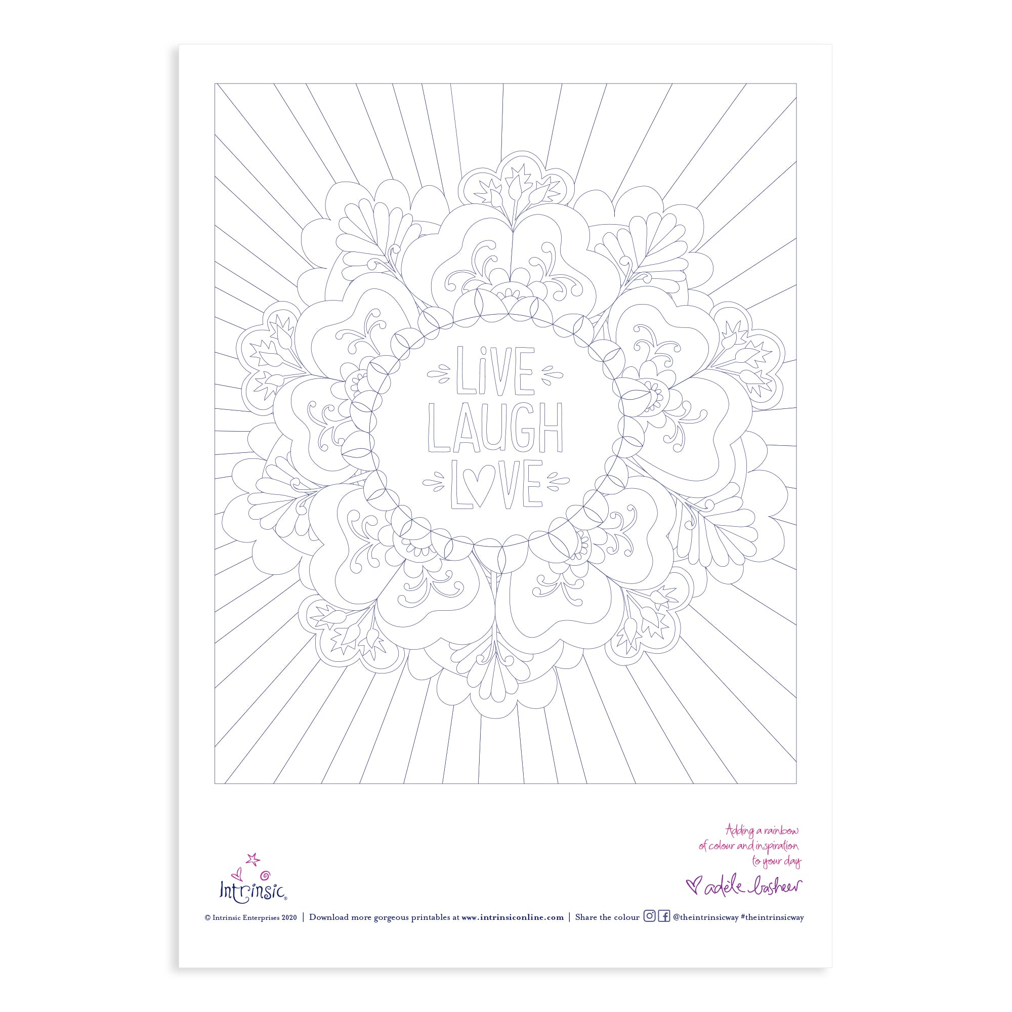 Intrinsic Colouring In Printable #3