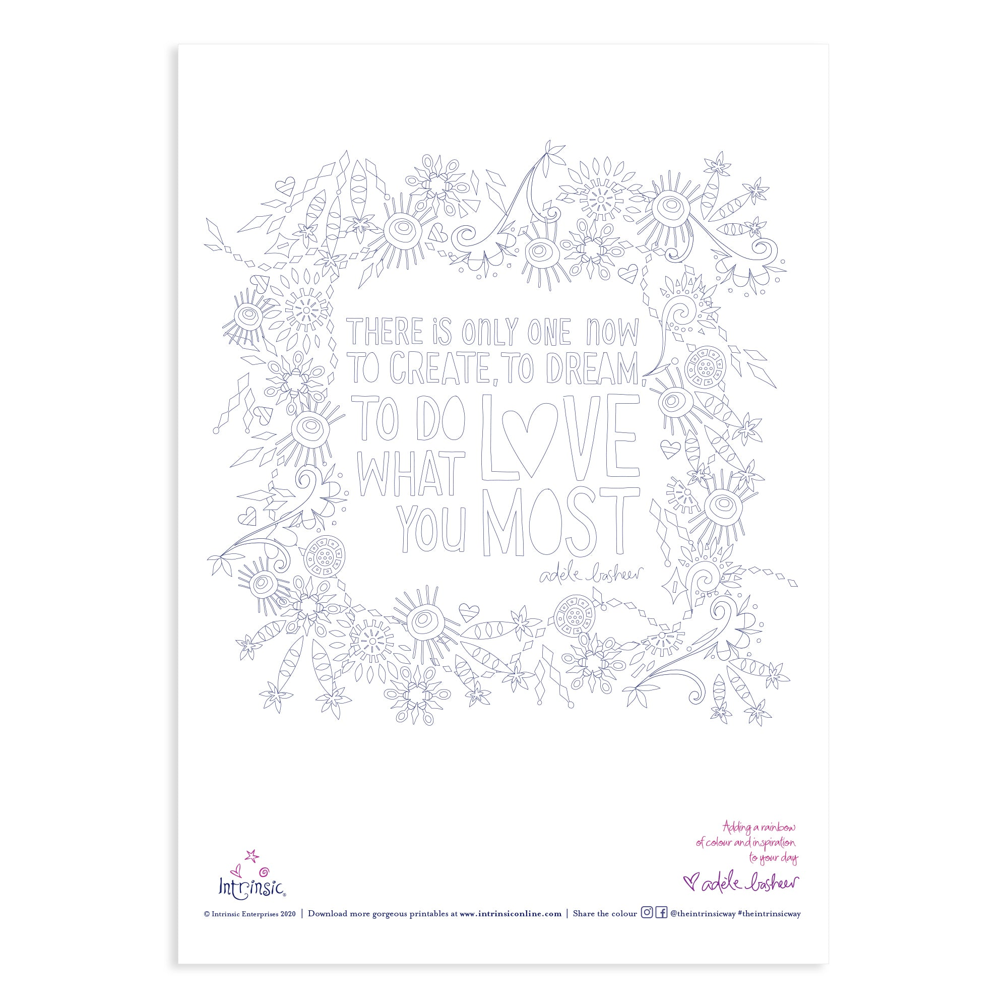 Intrinsic Colouring In Printable #5