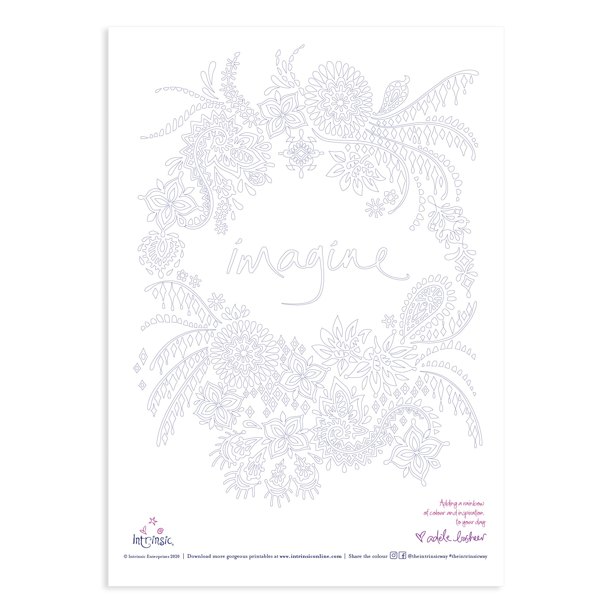 Intrinsic Colouring In Printable #7