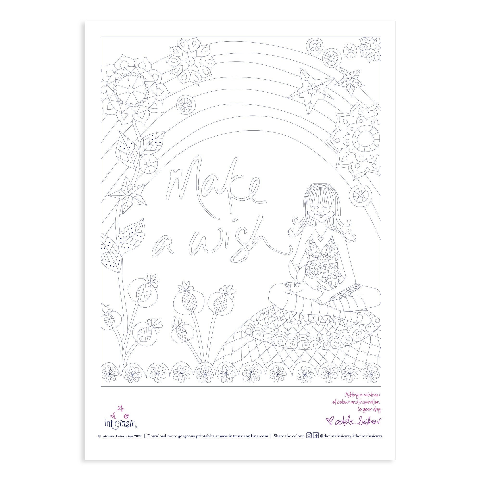 Intrinsic Make A Wish Colouring In Printable