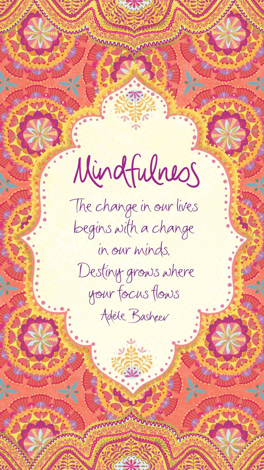 Intrinsic Mindfulness Quote By Adele Basheer - Digital Wallpaper