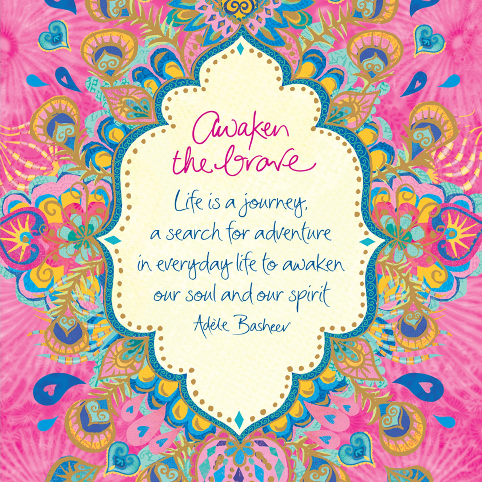 Intrinsic Awaken The Brave Quote - Digital Wallpaper