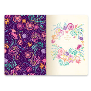 2020 Intrinsic Diary New Beginnings Violet Purple Title Page
