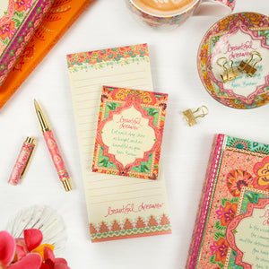 Intrinsic Beautiful Dreamer Coral Stationery