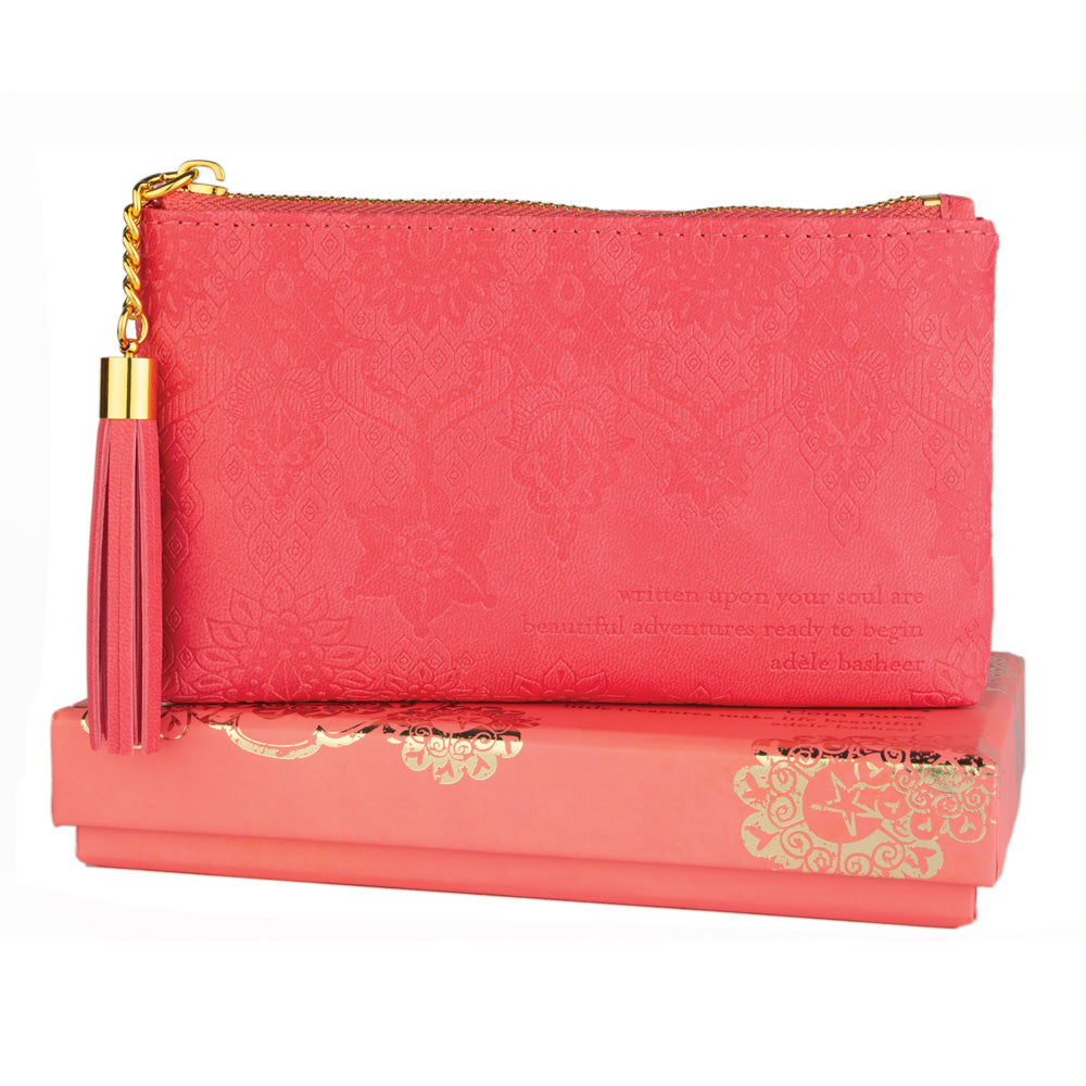 Coral Crush Pink Coin and Money Purse