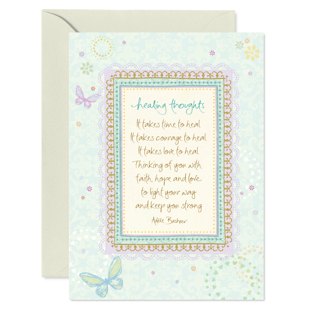 Intrinsic With Sympathy and Healing Greeting Card