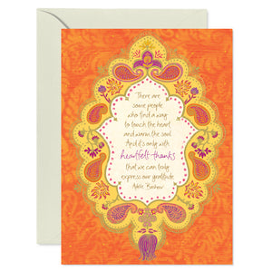 Orange Heartfelt Thank-you Greeting Card