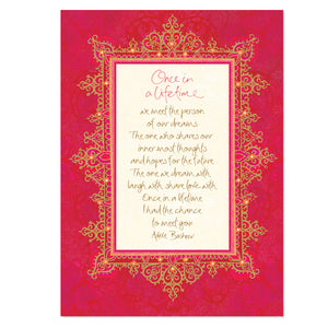 Red Love Valentines Day Anniversary Greeting Card