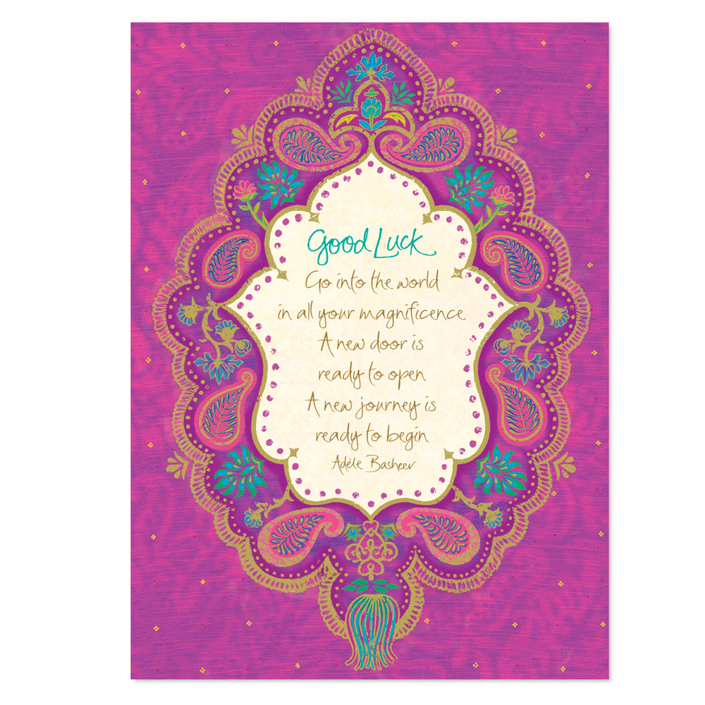 Intrinsic-Good Luck Greeting Card