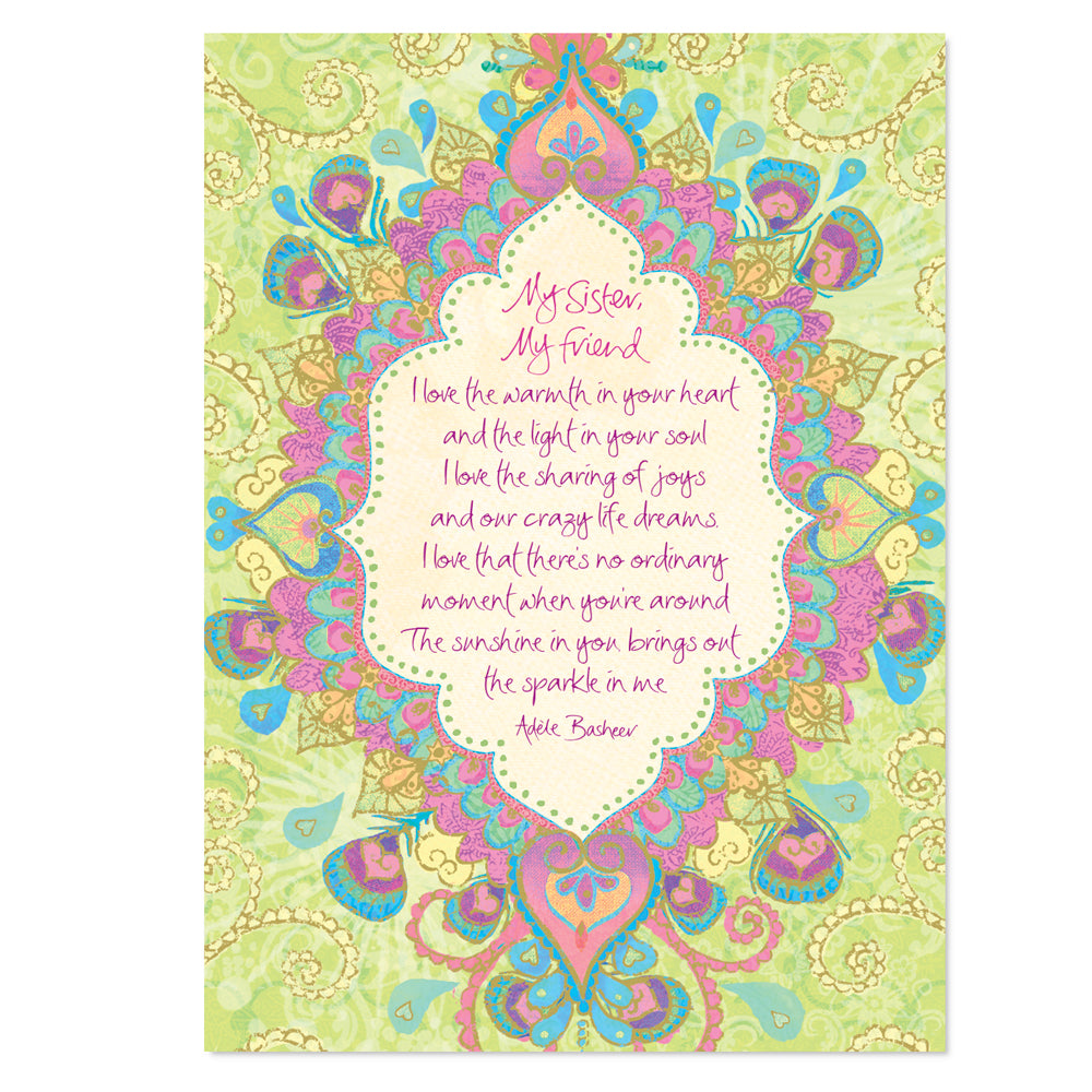 Intrinsic Sister Friendship Greeting Card