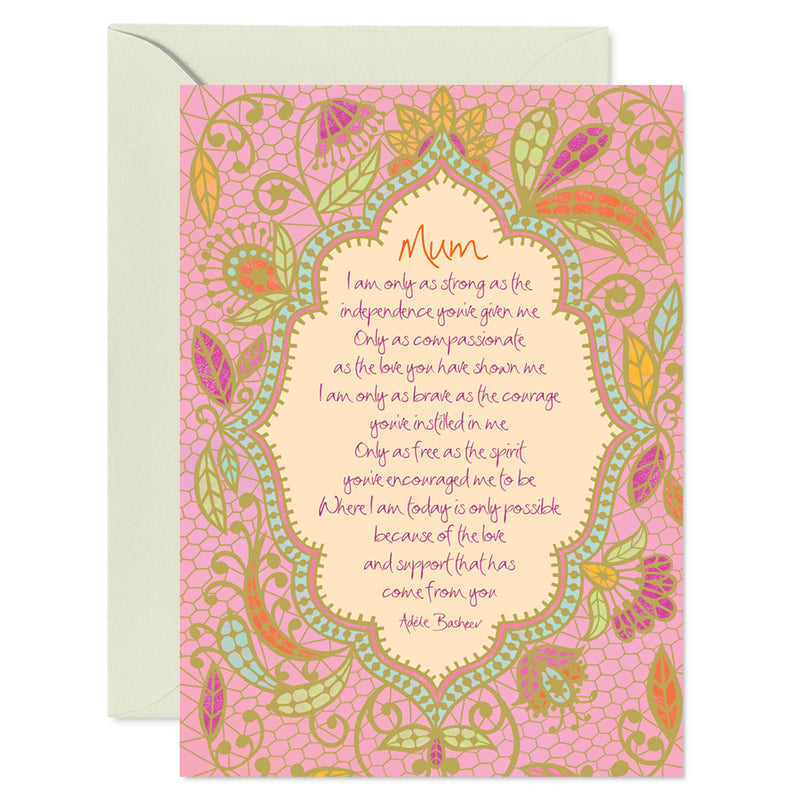 Intrinsic Pink Mothers Day Greeting Card