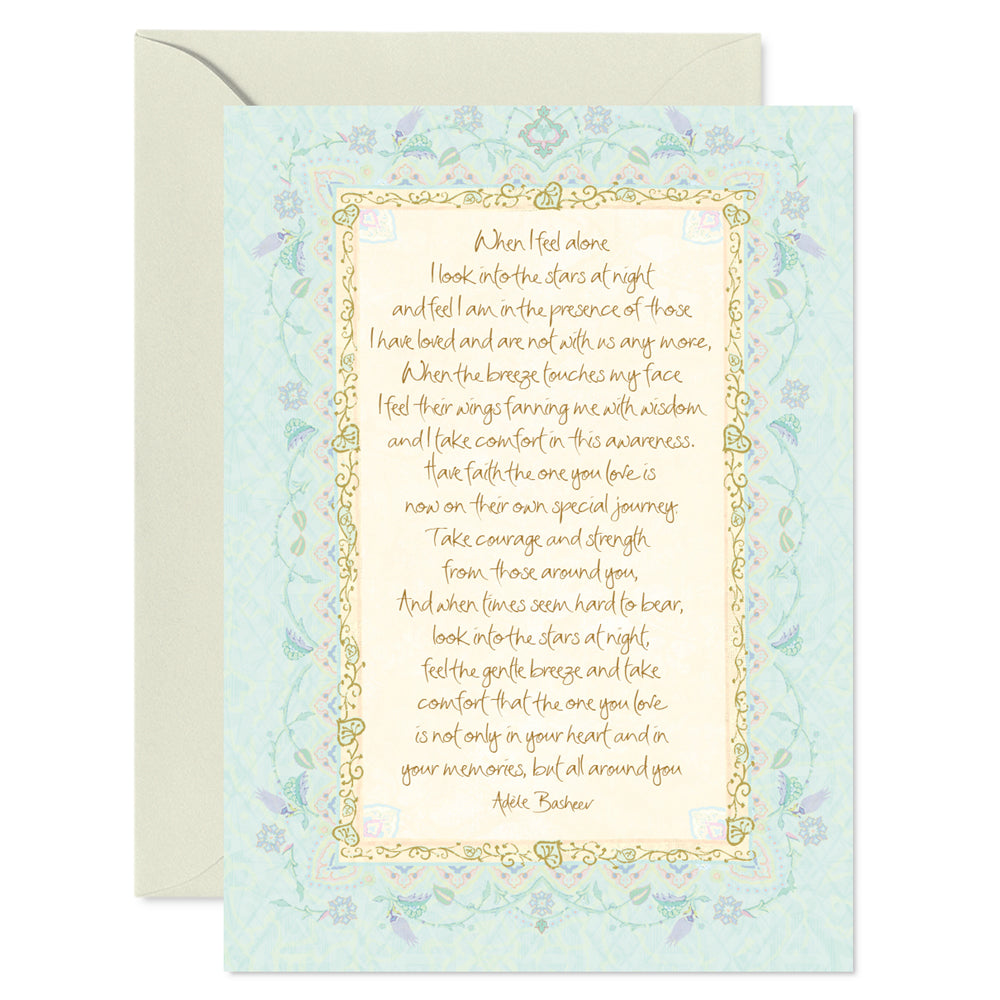 Blue Bereavement Greeting Card