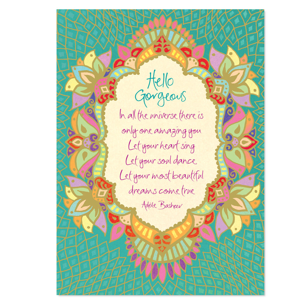 Intrinsic-Hello Gorgeous Greeting Card
