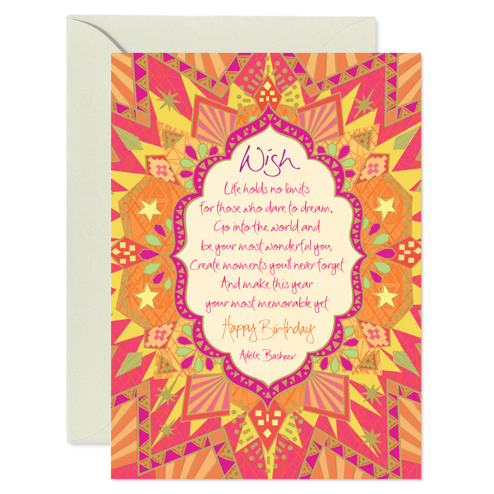 Birthday Wishes Greeting Card by Adele Basheer