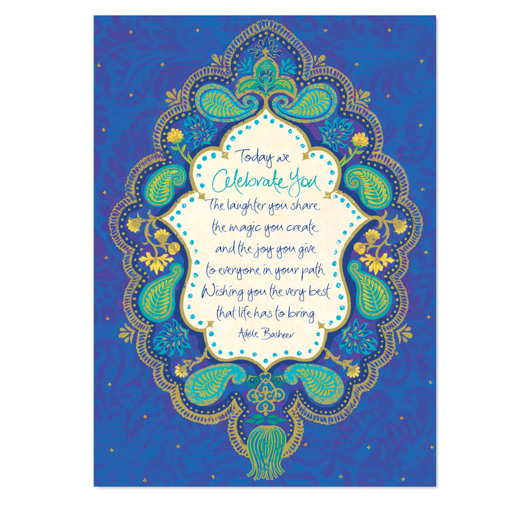 Australian Intrinsic Celebrate You Greeting Gift Card with Adèle Basheer inspirational message