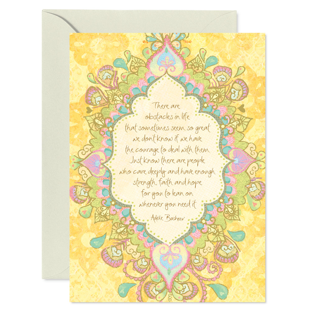 Yellow Sympathy and Support Greeting Card