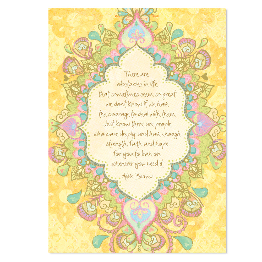 Intrinsic-Difficult Times Greeting Card
