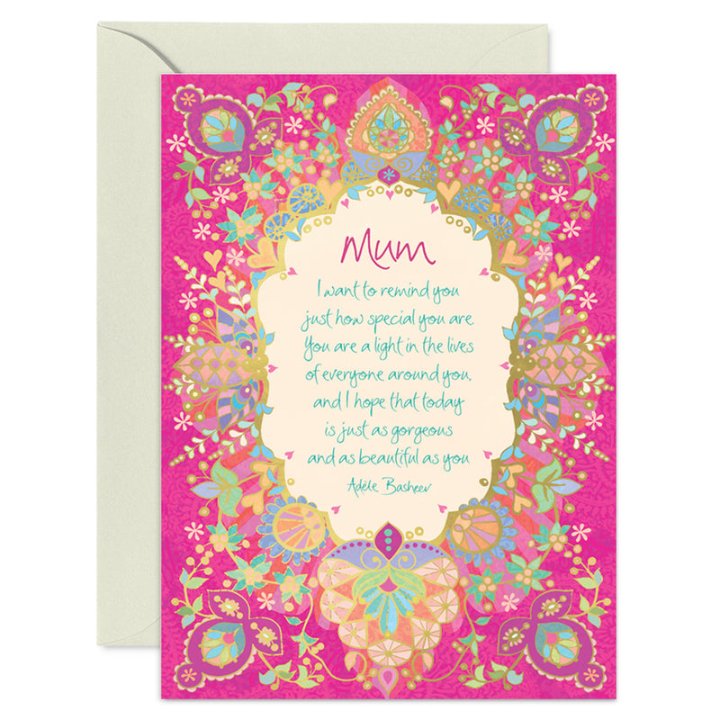 Intrinsic Mother's Day Greeting Card With Quote By Adèle Basheer