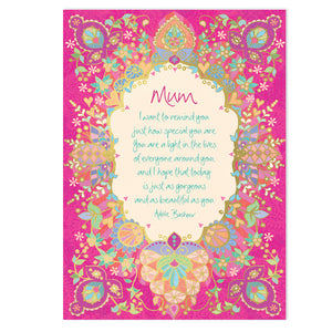 Intrinsic Hot Pink Mother's Day Greeting Card