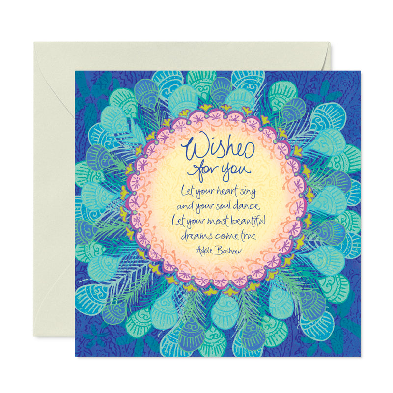 Intrinsic-Birthday Wish Feathers Greeting Card