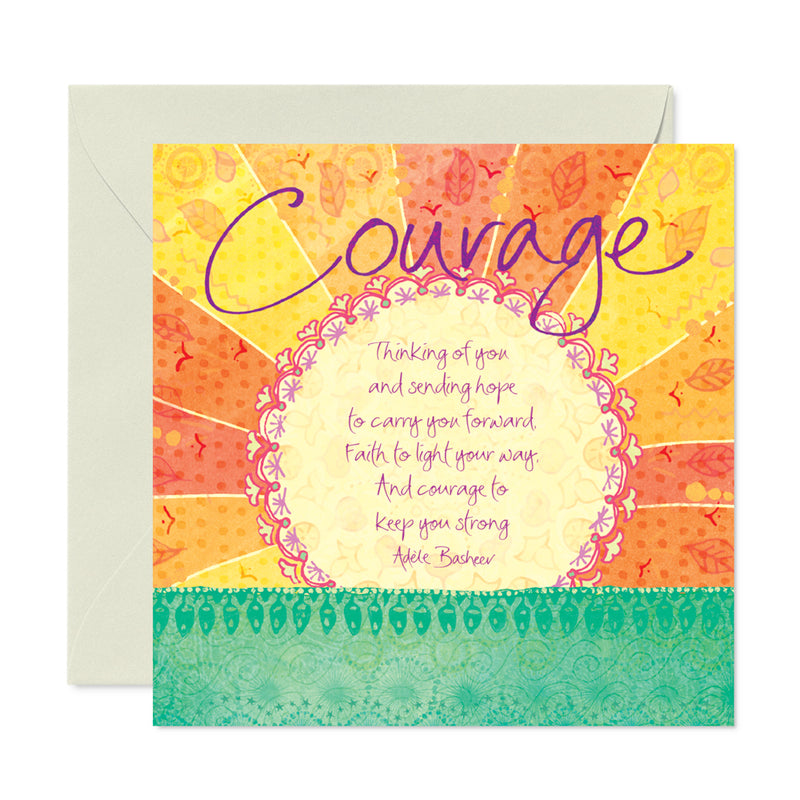 Courage Sunshine Greeting Card